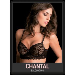 Love&bra Reggiseno Chantal modello balconcino in pizzo NERO-NATURAL